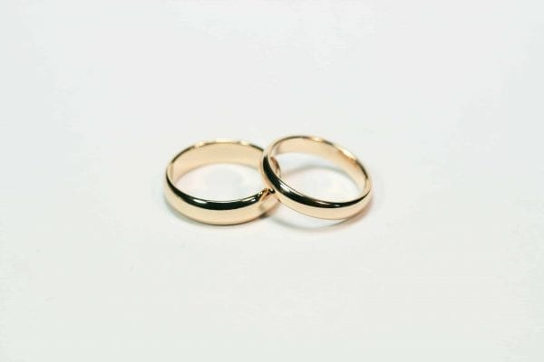 Red Gold Wedding Rings