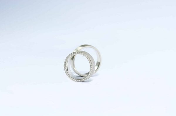 White Gold Love wedding rings