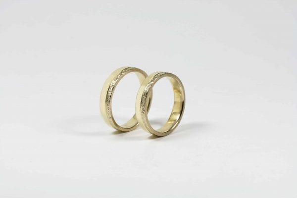 White and Yellow Gold Rings wedding rings