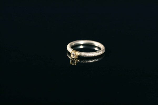 gentle assurance engagement ring